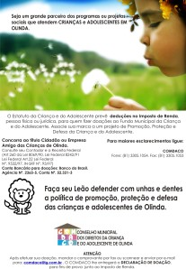 folder doação 2009